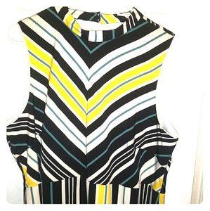 Dresses & Skirts - Dress mid length yello black and white